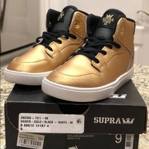 Supra Vaider Gold Sneakers